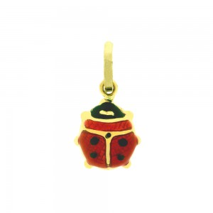 Pendentif or jaune 375/1000 - 9 carats - Coccinelle