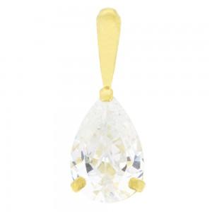 Pendentif or jaune 375/1000 - 9 carats  et oxyde