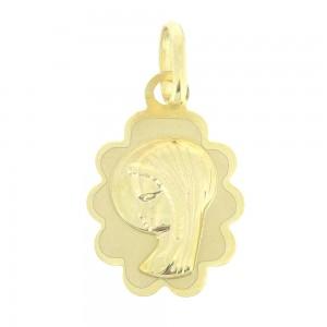Pendentif or jaune 375/1000 - 9 carats - Vierge