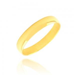Alliance or jaune 375/1000 (9ct)   - 4mm