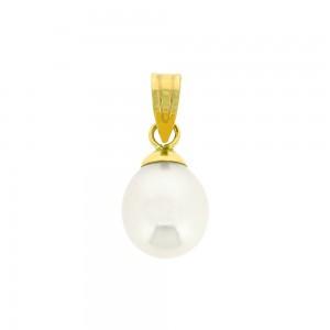 Pendentif or jaune 375/1000 - 9 carats et Perle