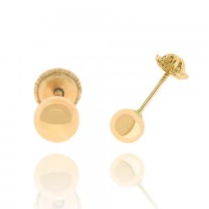 Boucle d'oreille or rose 375/1000 - 9 carats - Boule petit modèle