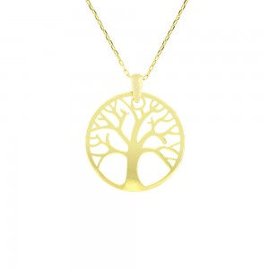 Collier or 375/1000 - 9 carats- Or jaune - Arbre de vie