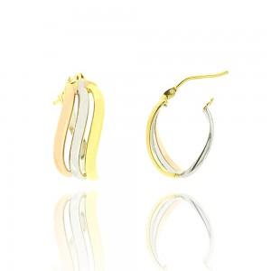 Boucle d'oreille 3ors 375/1000 - 9 carats -1/2 créole