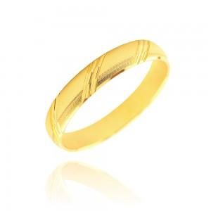 Alliance or jaune 375/1000 - 4mm