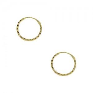 Boucle d'oreille or, Créole ciselée, fil carré
