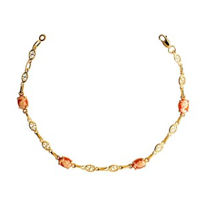 Bracelet or filigrane, camée rose