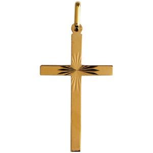 Croix or, ciselée