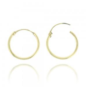 Boucle d'oreille or jaune 375/1000 - 9 carats - Créole