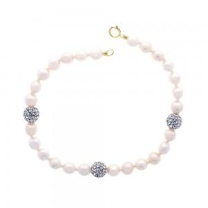 Bracelet perle et or 375/1000 - 9 carats