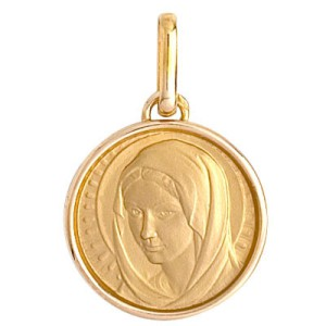 Médaille or, vierge