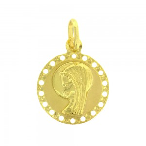 Médaille or jaune 375/1000 - 9 carats - Vierge