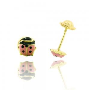 Boucle d'oreille or 750/1000 - 18 carats - Coccinelle
