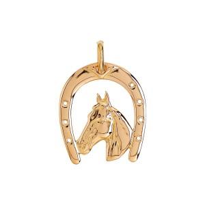 Pendentif or, pendentif fer à cheval