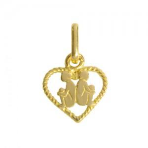 Pendentif  or, zodiaque Gémeaux