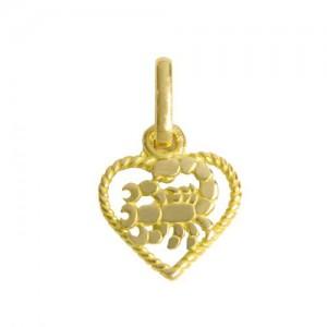 Pendentif  or, zodiaque Scorpion