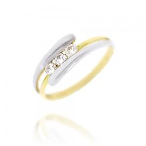 Bague or  Bicolore 750/1000 et Diamants
