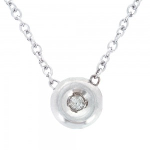 Collier or 375/1000 - 9 carats- or blanc, diamant.