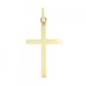 Pendentif or jaune 375/1000 - 9 carats - Croix