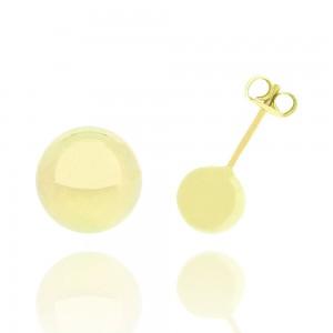 Boucle d'oreille or jaune 375/1000 - 9 carats - Boule