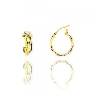 Boucle d'oreille 3ors 375/1000 - 9 carats -Créole