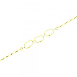 Bracelet Losange Deux ors 375/1000ème