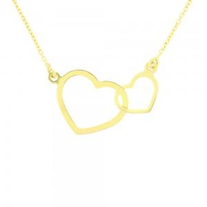 Bracelet Double Coeur Or 375/1000ème
