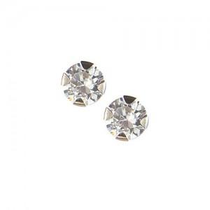 Boucles d'oreille or, clou, oxyde de zirconium