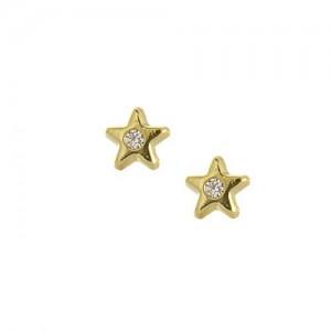 Boucles d'oreilles or, étoile, enfant