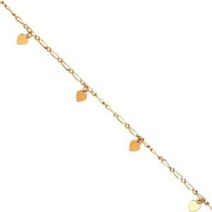 bracelet or, cœur