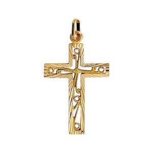 Croix or, ciselée et ajourée