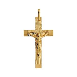 Croix or, Croix ciselée et Christ