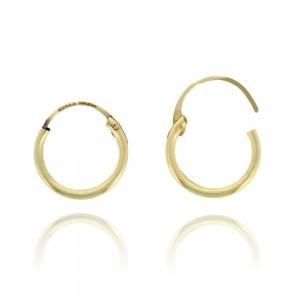 Boucle d'oreille or jaune 375/1000 - 9 carats - Créoles