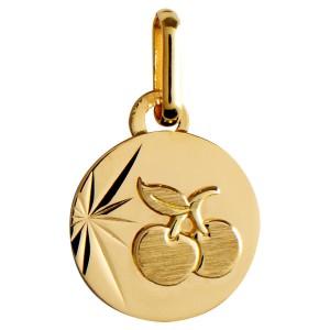 Médaille or, cerise