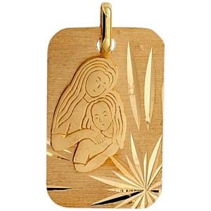 Médaille or, Mère et enfant
