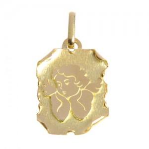 Médaille or, parchemin ange