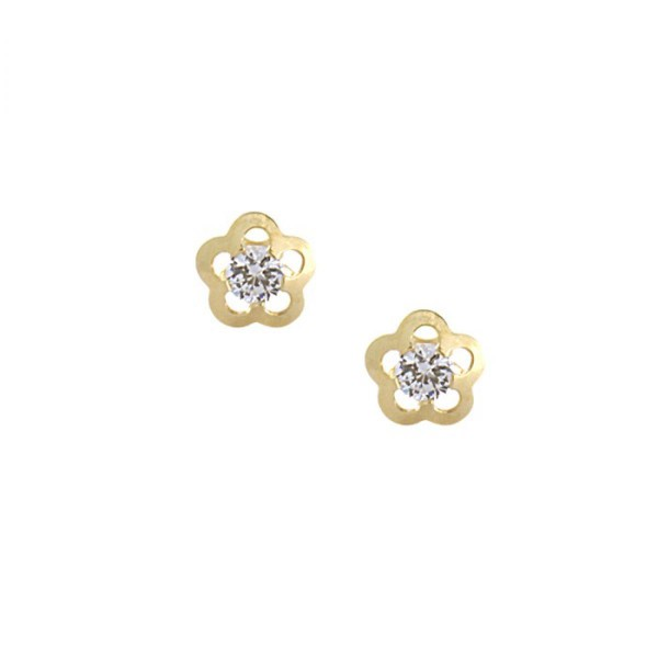 sélectionner pour véritable sans précédent plutôt sympa Boucle d'oreille fleur, boucle d'oreille en or, achat en ...