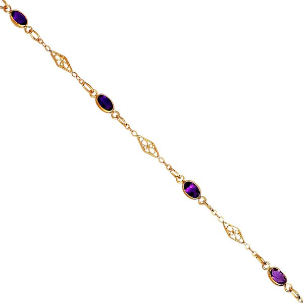 Bracelet or amèthyste