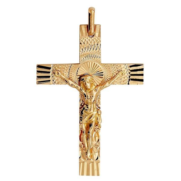 Croix or 375 1000 - Croix Christ - Bijouterie Briant 7b2f427d3cad