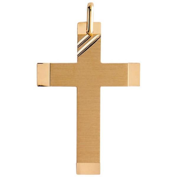 célèbre marque de designer nuances de remise pour vente Croix or 375/1000 - Croix or mat et brillant - Bijouterie Briant