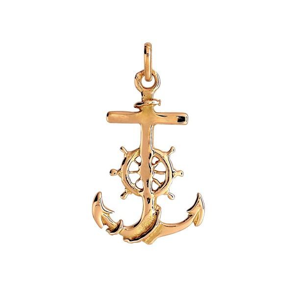 Pendentif or 375 1000 9 carats pendentif en or jaune - Dessiner une ancre marine ...