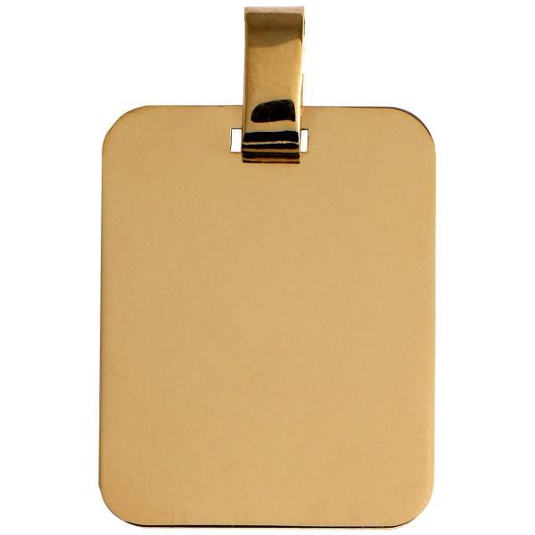 pendentif or 375 1000 9 carats pendentif en or jaune en forme de plaque rectangulaire graver. Black Bedroom Furniture Sets. Home Design Ideas